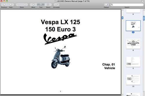 Vespa 125 Uk