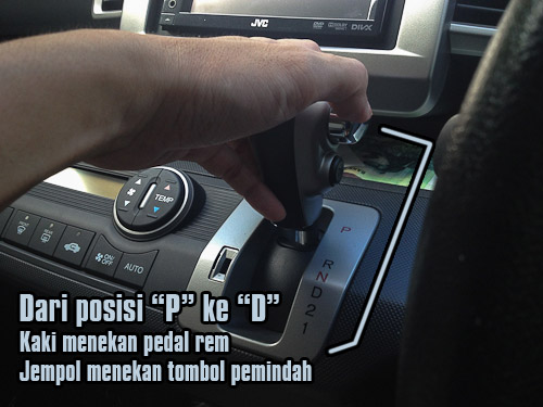 """Dalam posisi """"P"""" berarti mobil tidak bisa di dorong. Untuk"""